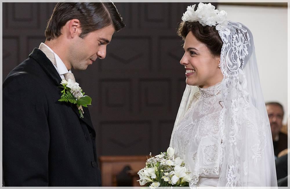 Simón y Adela celebran su enlace cuando aparece una misteriosa mujer en Acacias 38