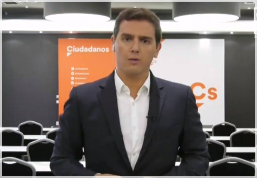 Albert Rivera pide aplicar el artículo 155 de la constitución española en cataluña