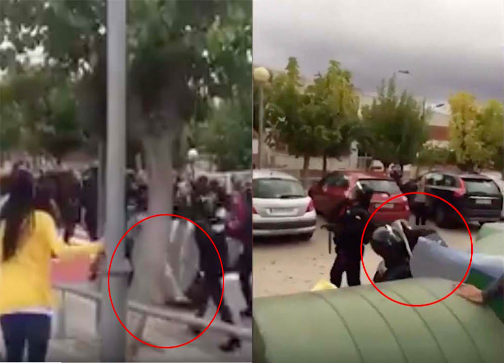 agresión guardias civiles