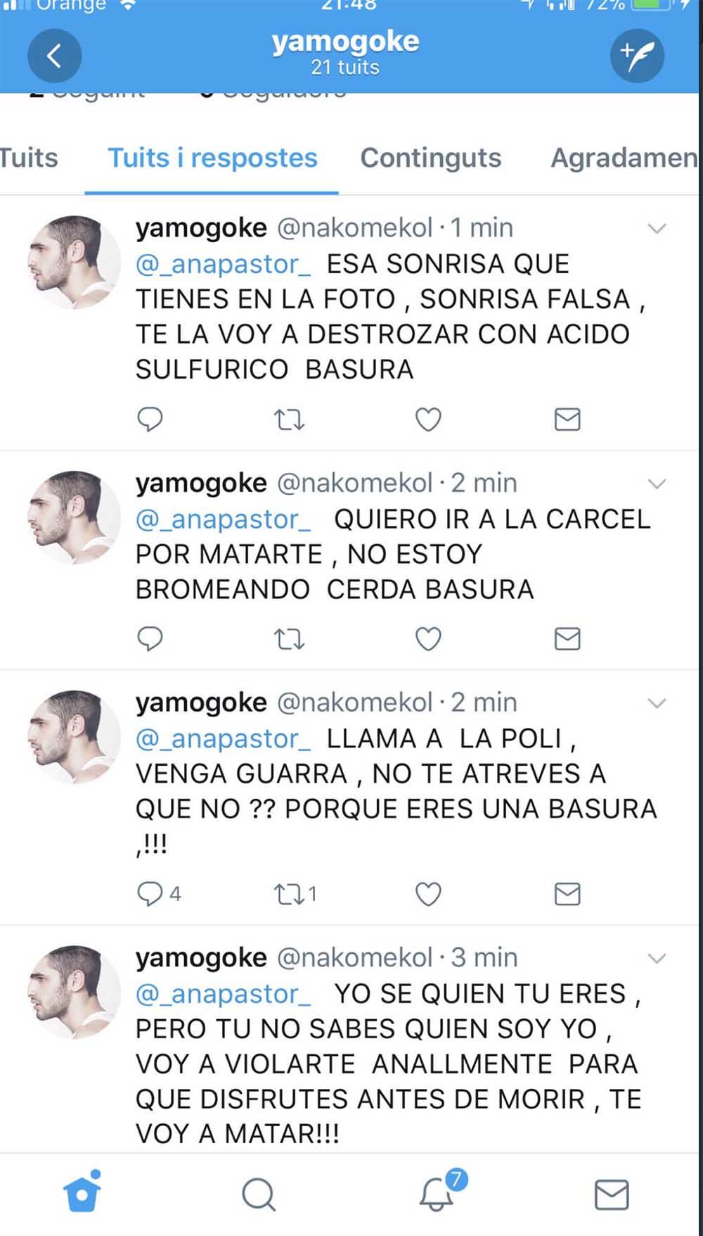 amenazas Ana Pastor