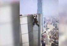 Joven acróbata graba su propia muerte al caer desde lo alto de un rascacielos