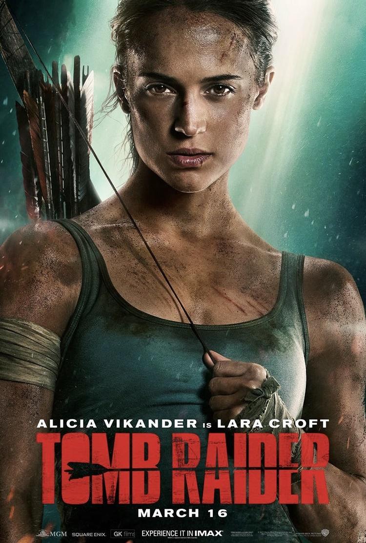 Segundo póster de Alicia Vikander como Lara Croft en Tomb Raider