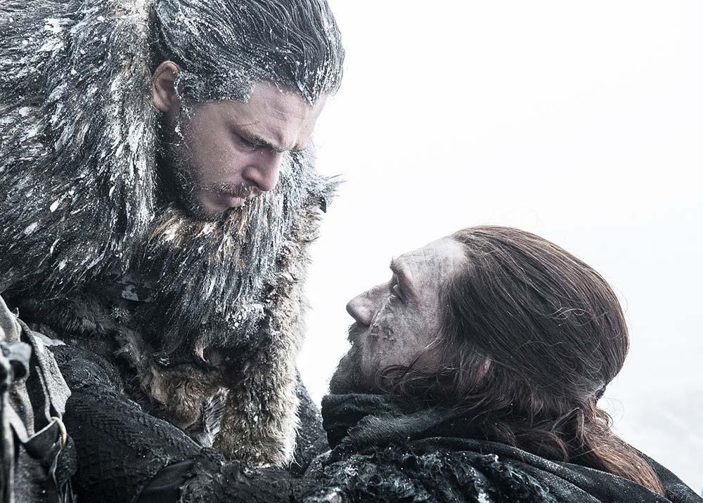 Benjen Stark y Jon nieve