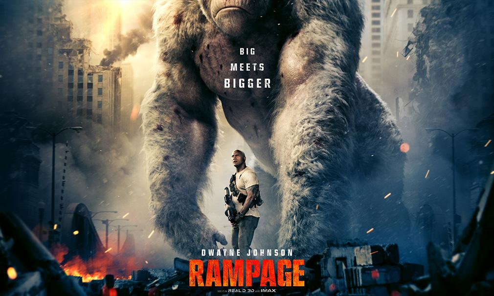 El actor Dwayne 'The Rock' Johnson protagonista del nuevo adelanto de 'Rampage'