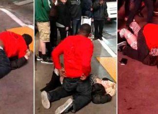 Un hombre abusa de una mujer borracha en plena calle y nadie hace nada