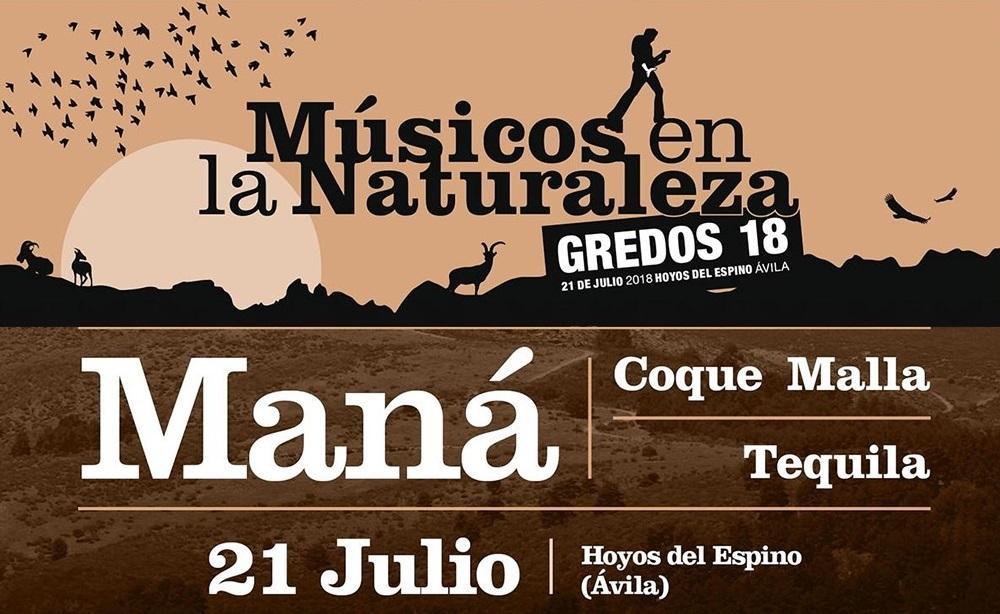 Maná, Tequila y Coque Malla en el festival Músicos en la Naturaleza 2018