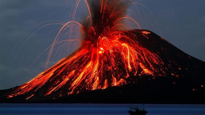 Erupción del Krakatoa