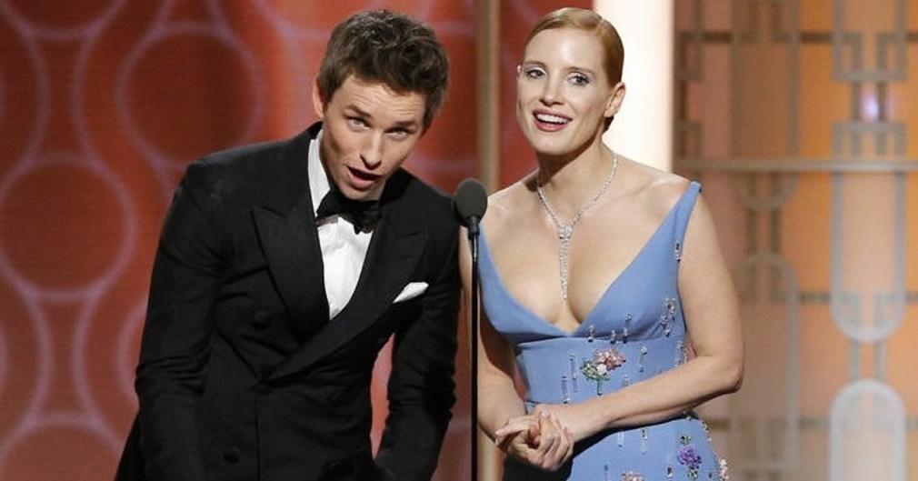 Los actores Jessica Chastain y Eddie Redmayne