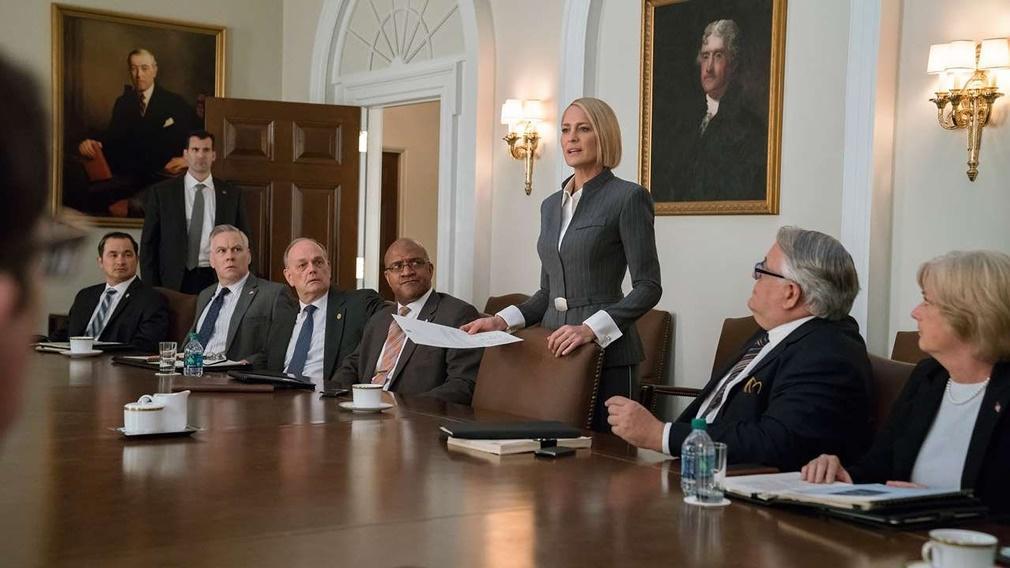 Escena de 'House of Cards' con Claire Underwood